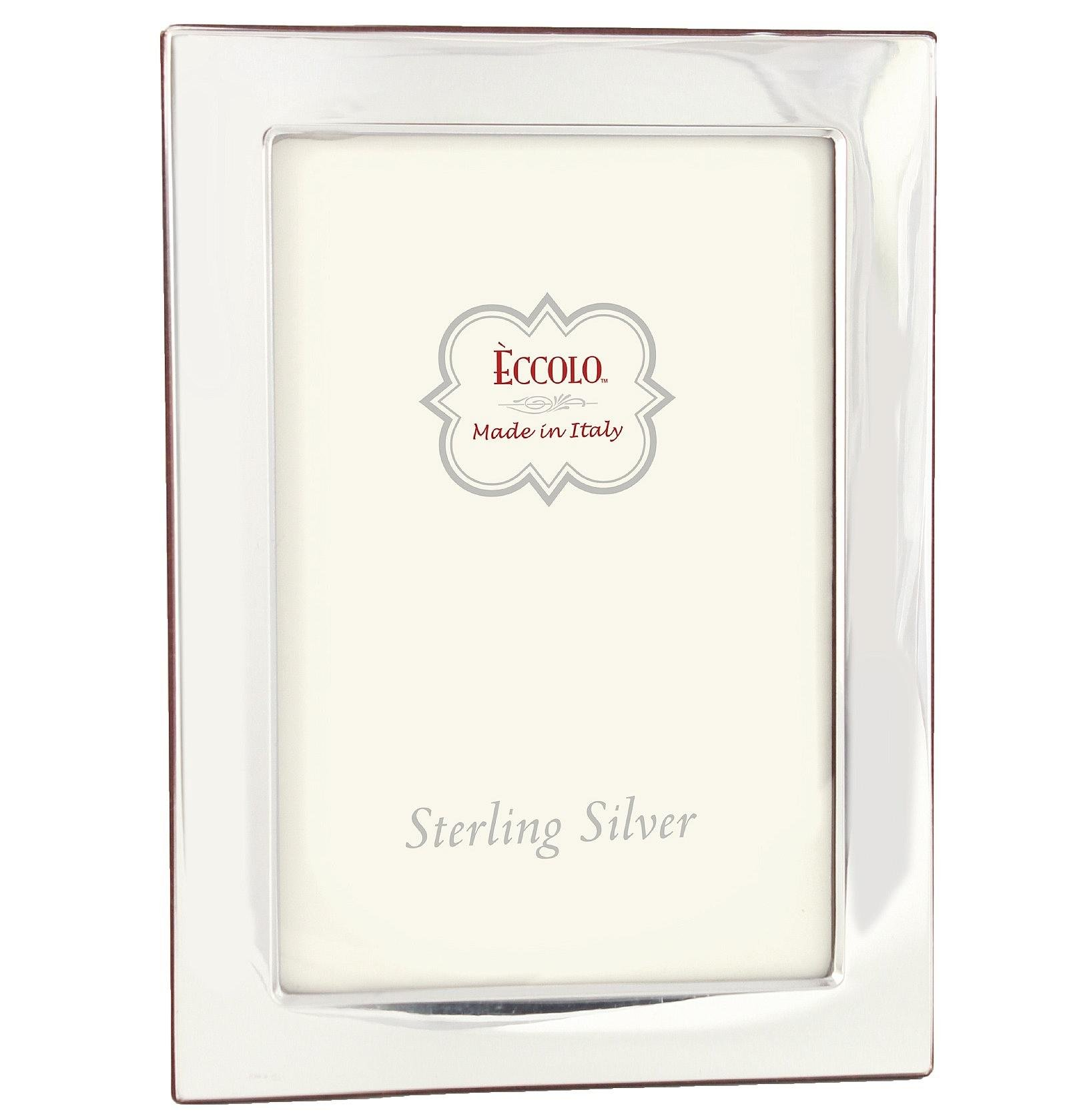 Eccolo Sterling Silver Frame, Holds 5 by 7-Inch Photo, Madison