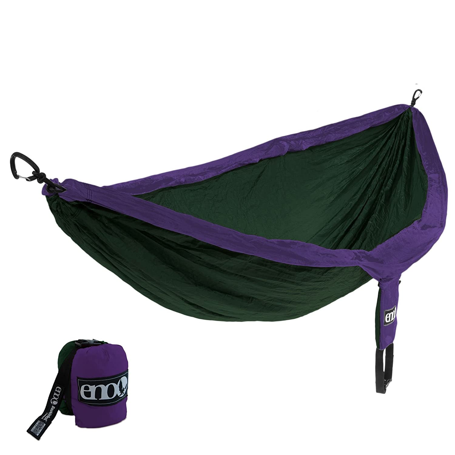 eno Eagles Nest DoubleNest OneLink Combo – Purple Forest Hammock Grey Profly