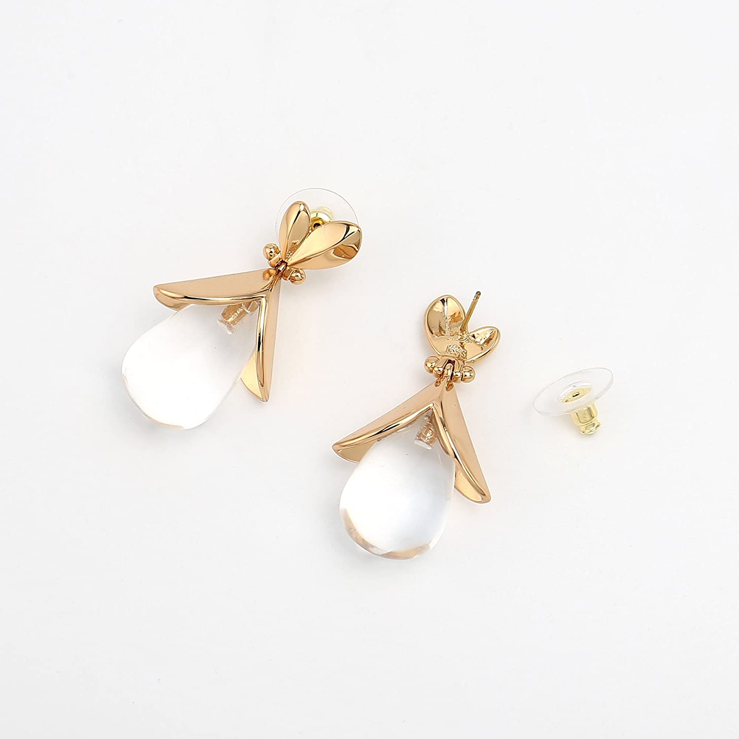Melissa /& Rosella Gold-plated Copper Blooming Bud Earrings