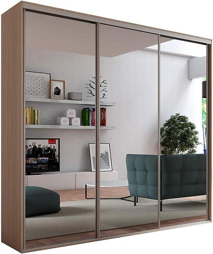 Armario Lapas 277, armario de puertas correderas, 3 barras, 12 estantes, armario moderno para dormitorio: Amazon.es: Juguetes y juegos