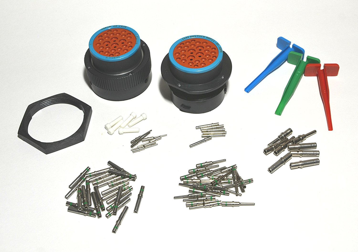 Deutsch HDP20 Bulkhead 29-pin Connector kit, 12-16-20 AWG Solid Contacts HDP29-WNS-121620-KIT
