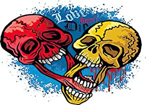 Diamond Painting Adult Painting Kits Gothic Sign Skull and Heart Grunge Vintage Home Bedroom Living Room Art Wall Decoration 16