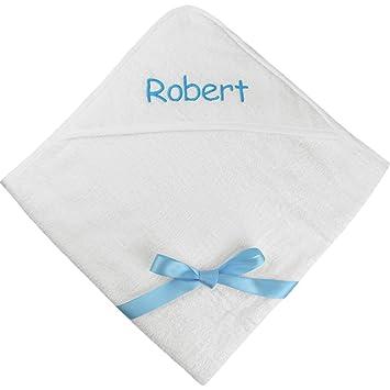 TeddyTs Bebé Niños y Niñas Personalizable Nombre Super Suave con Capucha Toalla de baño, algodón