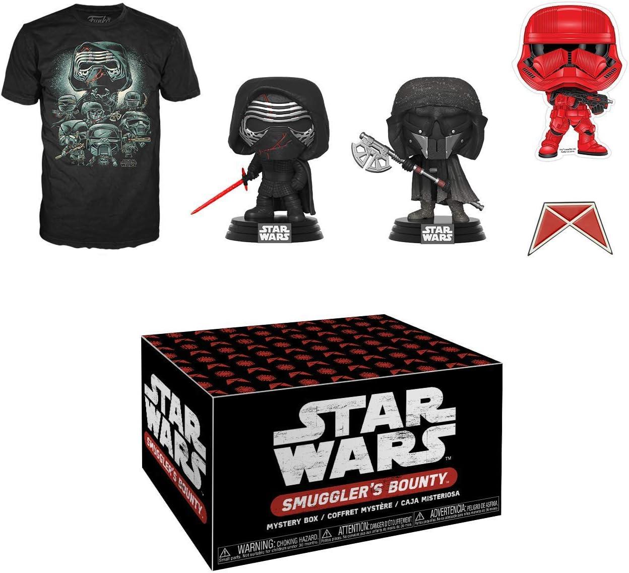Funko Star Wars Smugglers Bounty Caja de suscripción, Forces of Darkness, octubre de 2019, camiseta pequeña: Amazon.es: Juguetes y juegos
