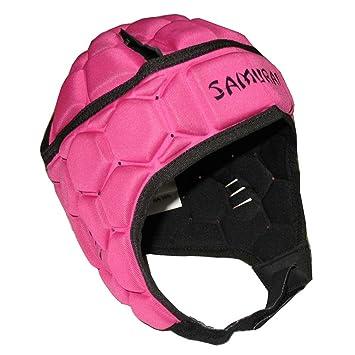 Samurai contorno Elite-Casco protector de rugby [rosa], color rosa, tamaño
