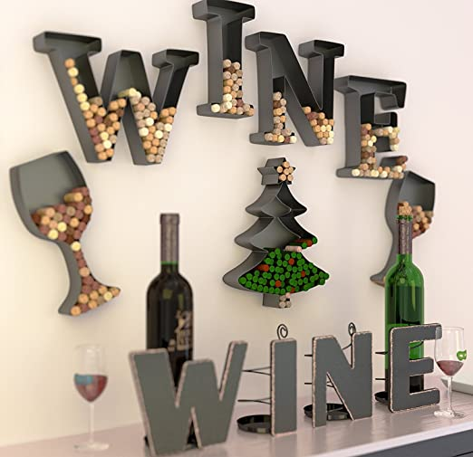 Wine Letter Cork Holder Art Wall Décor ~ Metal ~ All 4 Letters