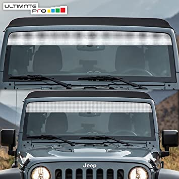 Windshield Banner Sun Shade Decal Sticker Vinyl Compatible with Jeep  Wrangler JK Sport Sahara Rubicon
