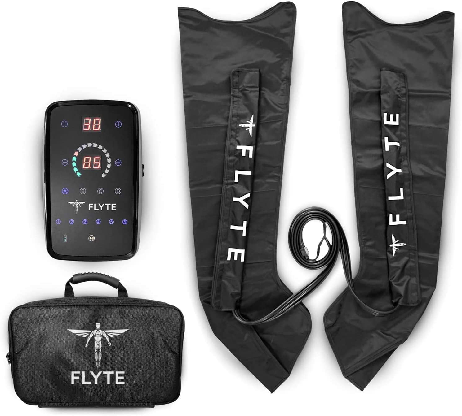 Flyte Recovery Boots System - Cordless and Portable Leg Compression Massager for Home Use (Medium)