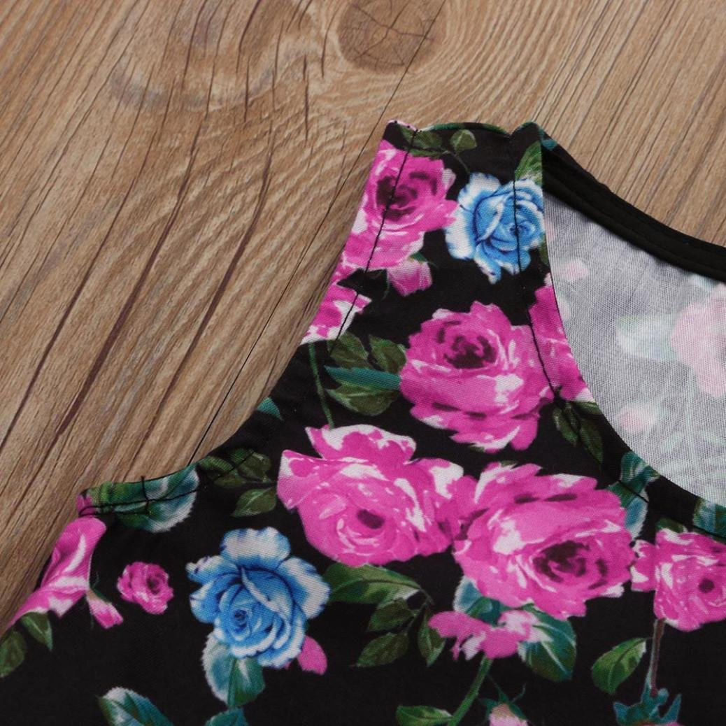 jarsh Floral Impreso, vid vestidos vestido de de verano bebé niñas ...