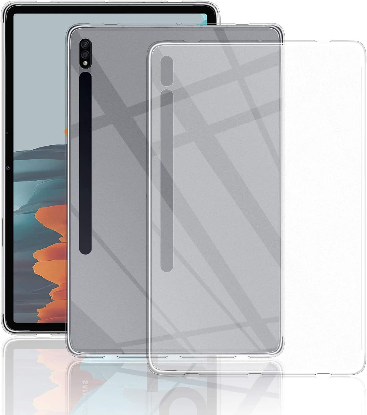 Samsung Galaxy Tab S7 Case Qulloo Tpu Case Protective Crystal Case Transparent Clear Silicone Transparent For Samsung Galaxy Tab S7 Transparent Elektronik