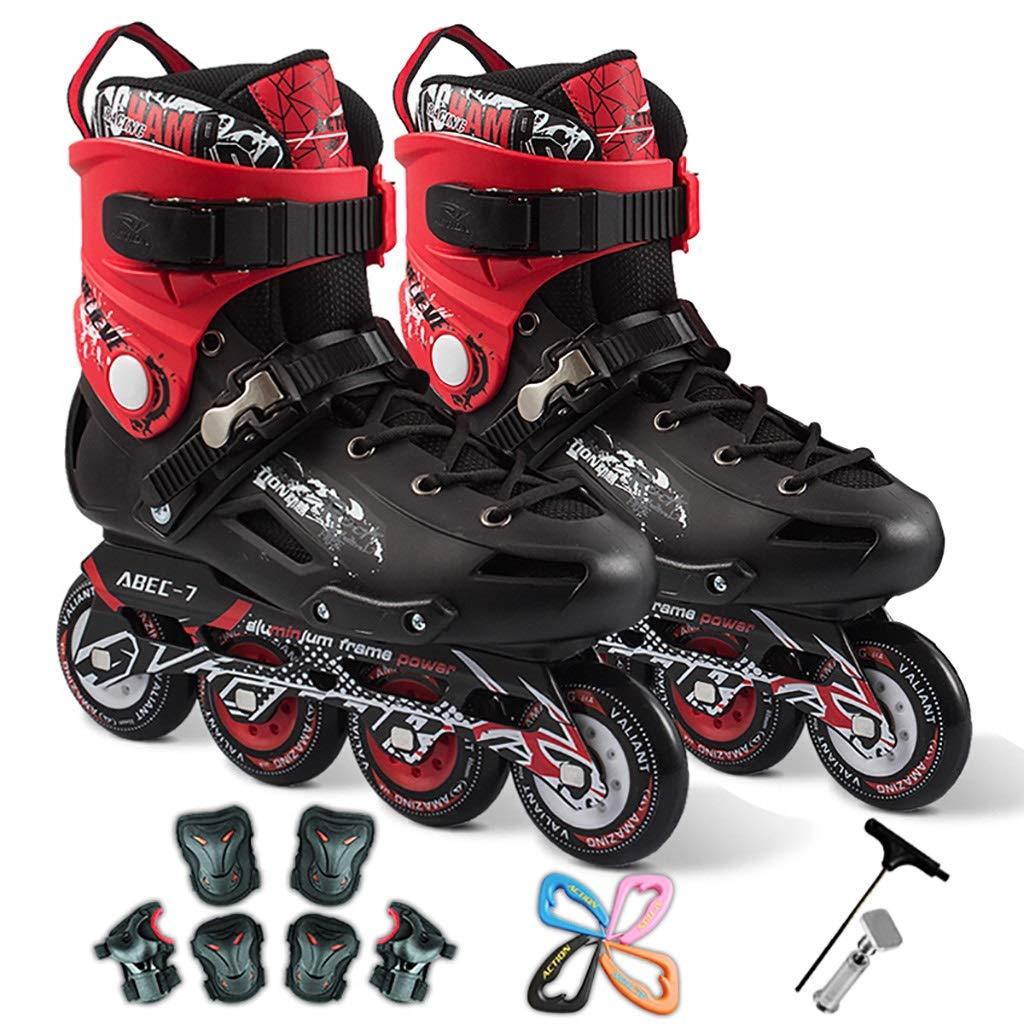 スケート大人のローラースケート靴の男性と女性フラットフラワーローラーシューズブラシストリートストレート (Color : B, Size : EU 40/US 7.5/UK 6.5/JP 25cm) EU 40/US 7.5/UK 6.5/JP 25cm B B07SWZCH9K