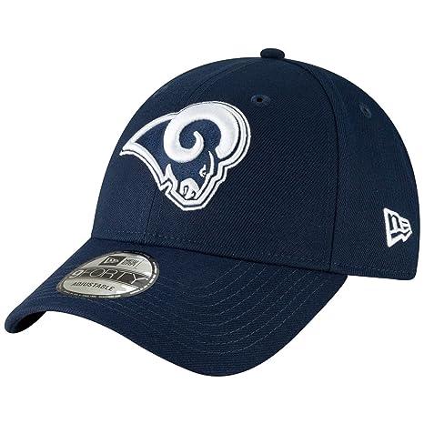 4c05861972f1e5 Amazon.com : New Era 9Forty Hat Los Angeles Rams The League Navy Blue  Adjustable Cap : Sports & Outdoors