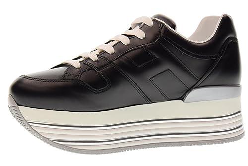 Hogan Scarpe Donna Sneakers Basse con Zeppa HXW3460T548KLAB999 H346 Taglia  40 Nero  Amazon.it  Scarpe e borse 0913efd6eea