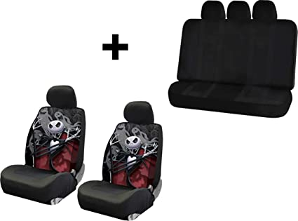 Nightmare Before Christmas Jack Ghostly Seat Covers Free Universal Bench