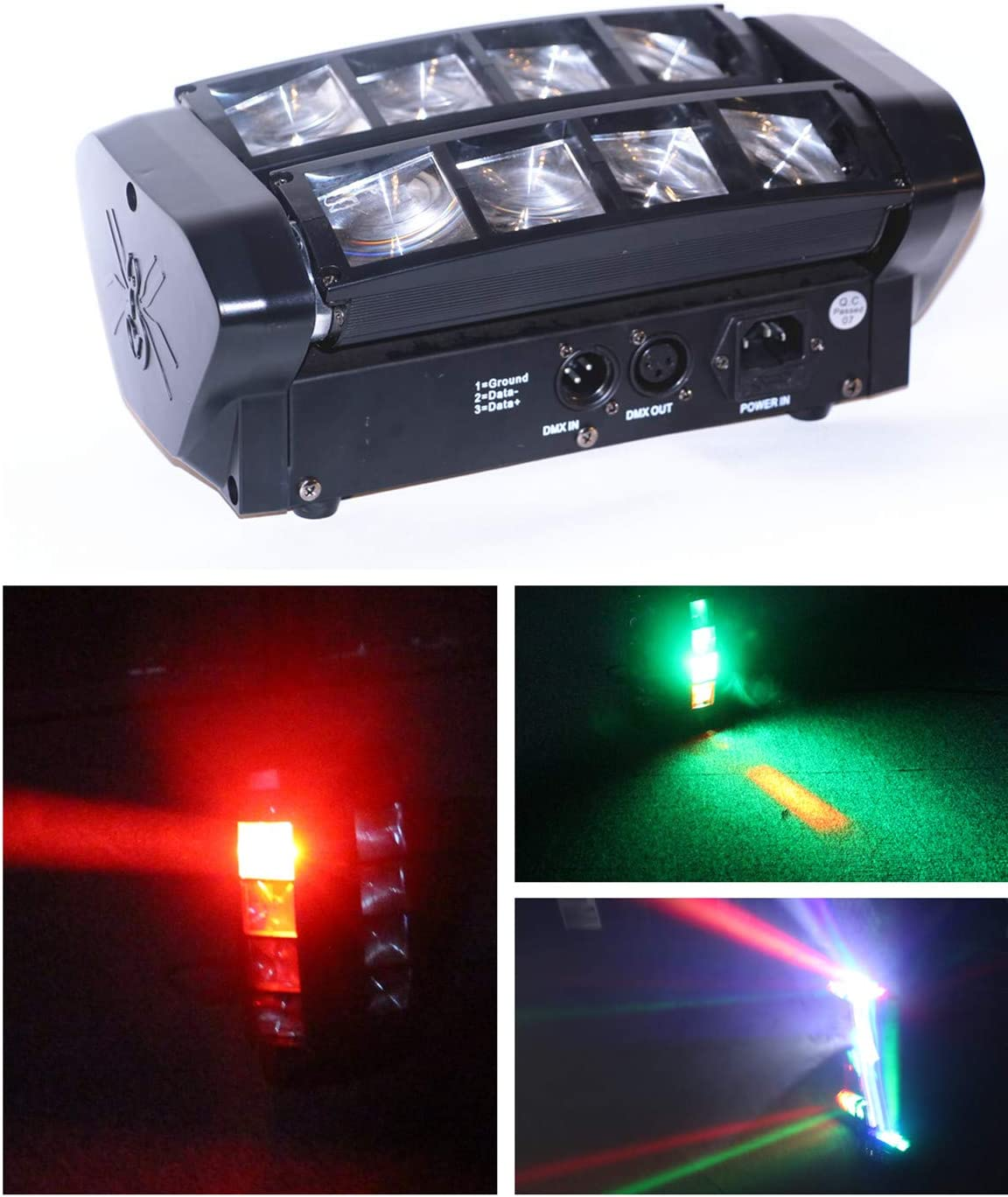 Musical Instruments Stage Lights ghdonat.com 7/13CH Boryli 8x3W ...