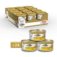 Gourmet Gold Mousse per il Gatto, con Pollo, 85 g - Confezione da 24 Pezzi