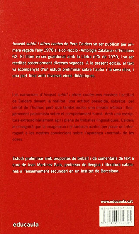 Invasió Subtil I Altres Contes (Educació 62): Amazon.es: Calders, Pere: Libros
