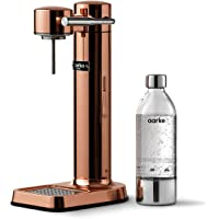 Aarke Carbonator 3 sodamaker met een roestvrijstalen behuizing en premium PET-fles, koperkleurige afwerking.