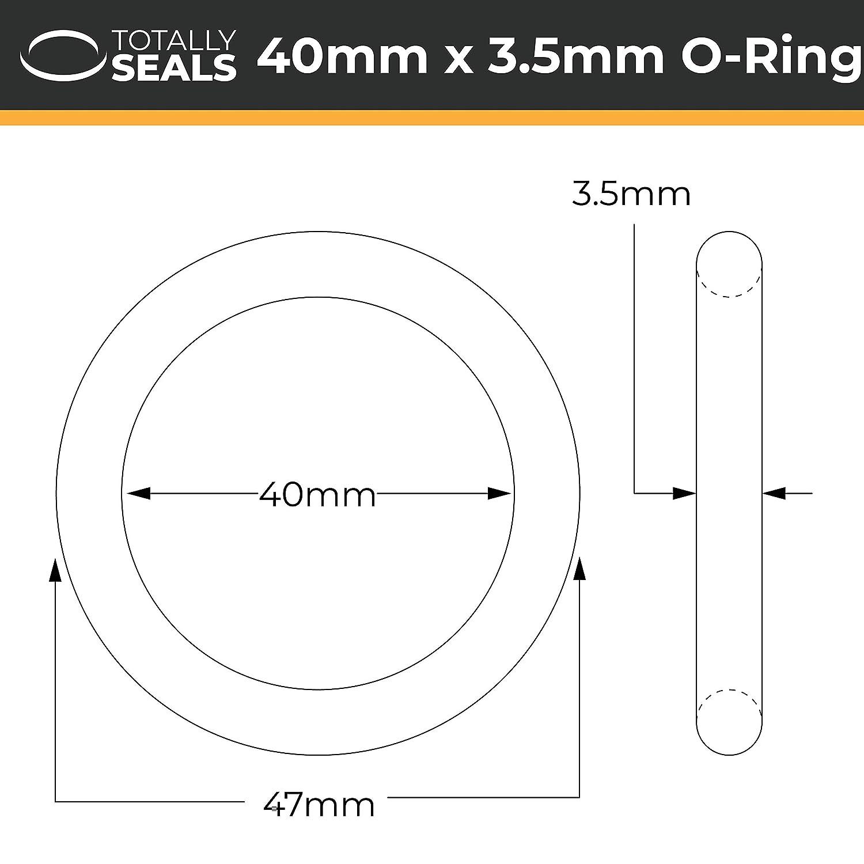 47 mm OD de goma de nitrilo con juntas t/óricas de dureza 70A Shore Elija el tama/ño del paquete 40 mm x 3,5 mm