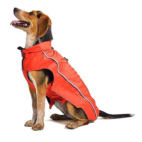 Dog Gone Smart - Abrigo Impermeable para Perros con Capucha, protección para Perros