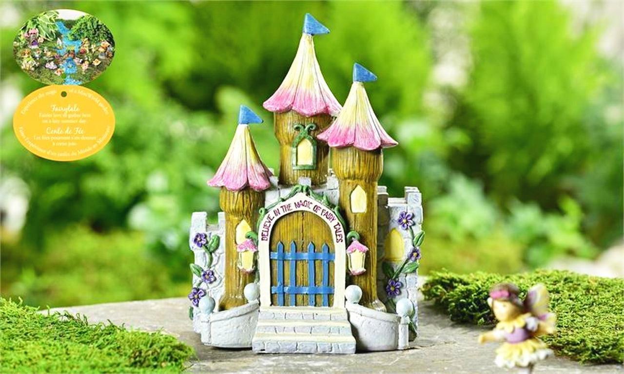 Mini Dollhouse FAIRY GARDEN Accessories - Fairytale Believe Castle - My Garden Miniatures