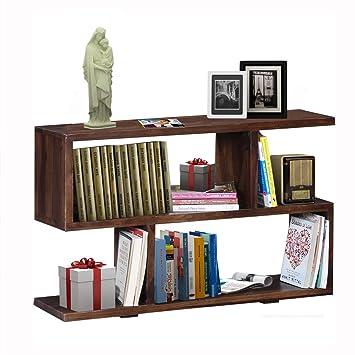 decca3409 Vintage Home Latest Designer Handcraft Contemporary Sheesham Wood Lincoln  Solid Wood Book Shelf in Provincial Teak