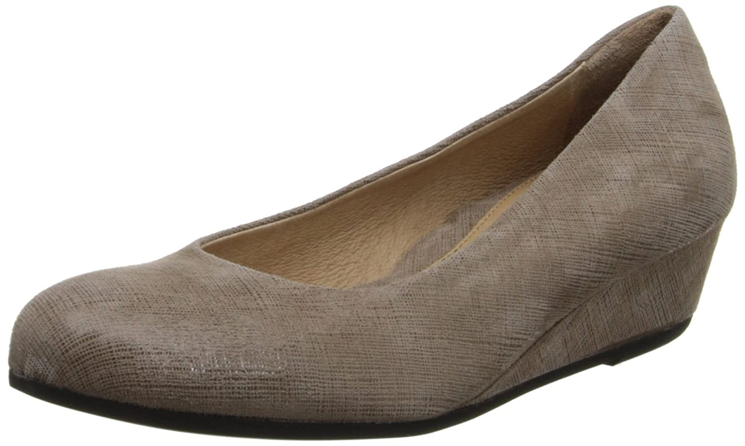 French Sole FS/NY Women's Gumdrop Wedge Pump B00C40X344 8 B(M) US|Taupe Cartizze