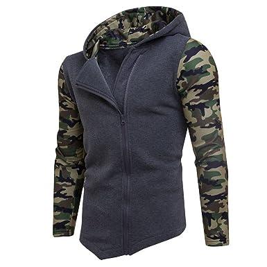 Herren Reißverschluss Camouflage Hoodies,Moonuy Männer Junge Winter  Baumwolle Camouflage Persönlichkeit Reißverschluss Hoodie Mit Kapuze Mode  Sweatshirt ... f1f5470293