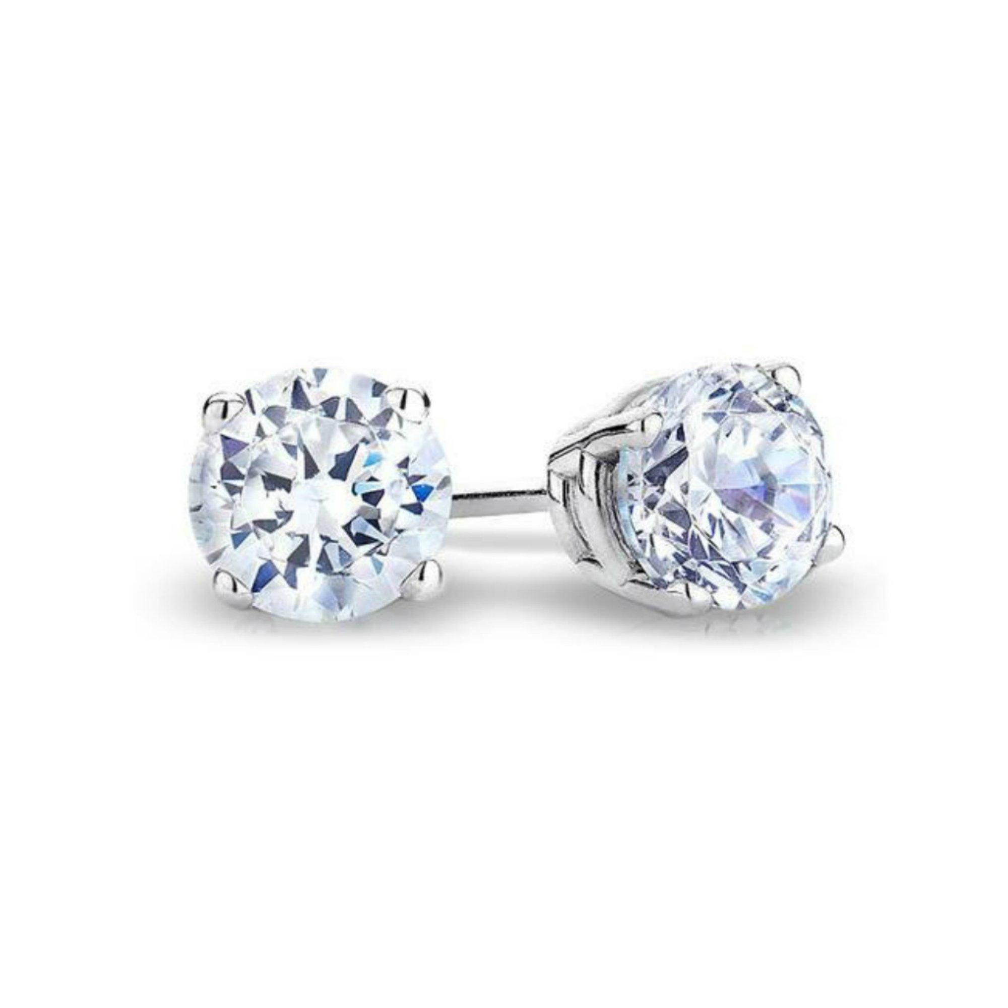 Sale! IGI Certified Solitaire 14k White Gold Diamond Stud Earrings (Divine) (Clarity I1 I2, Color- HI) (0.40 cttw) by finediamondjewelry