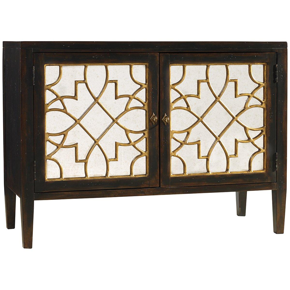 Hooker Furniture Sanctuary 2 Door Mirrored Console In Ebony