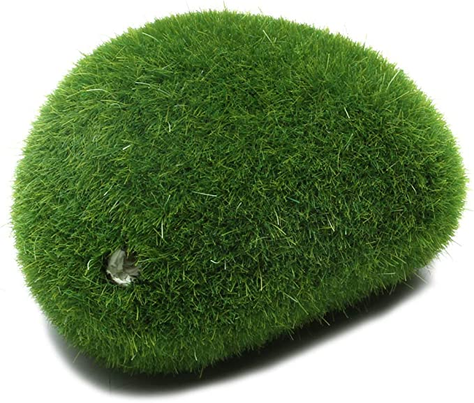 Miniature Fairy Garden Dollhouse Decor Marimo Moss Ball Grass Stone Artifical