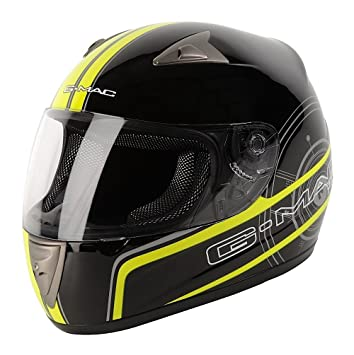 Gmac Pilot – Casco de motorista, color Black/safety yellow, tamaño 63-