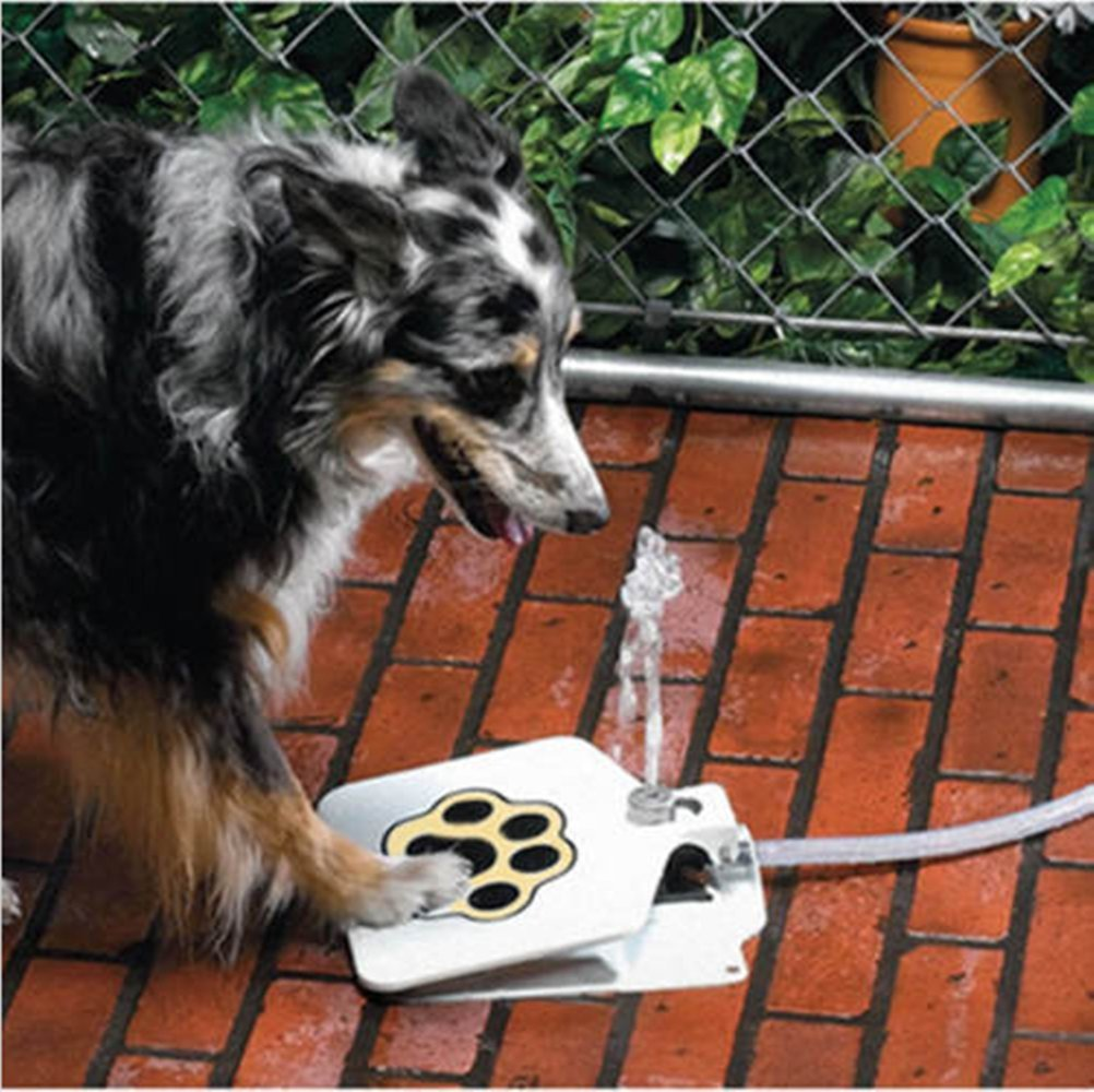 Eyourhappy Durable Outdoor Doggie Water Fountain Step-on Fresh Cold Drinking Water