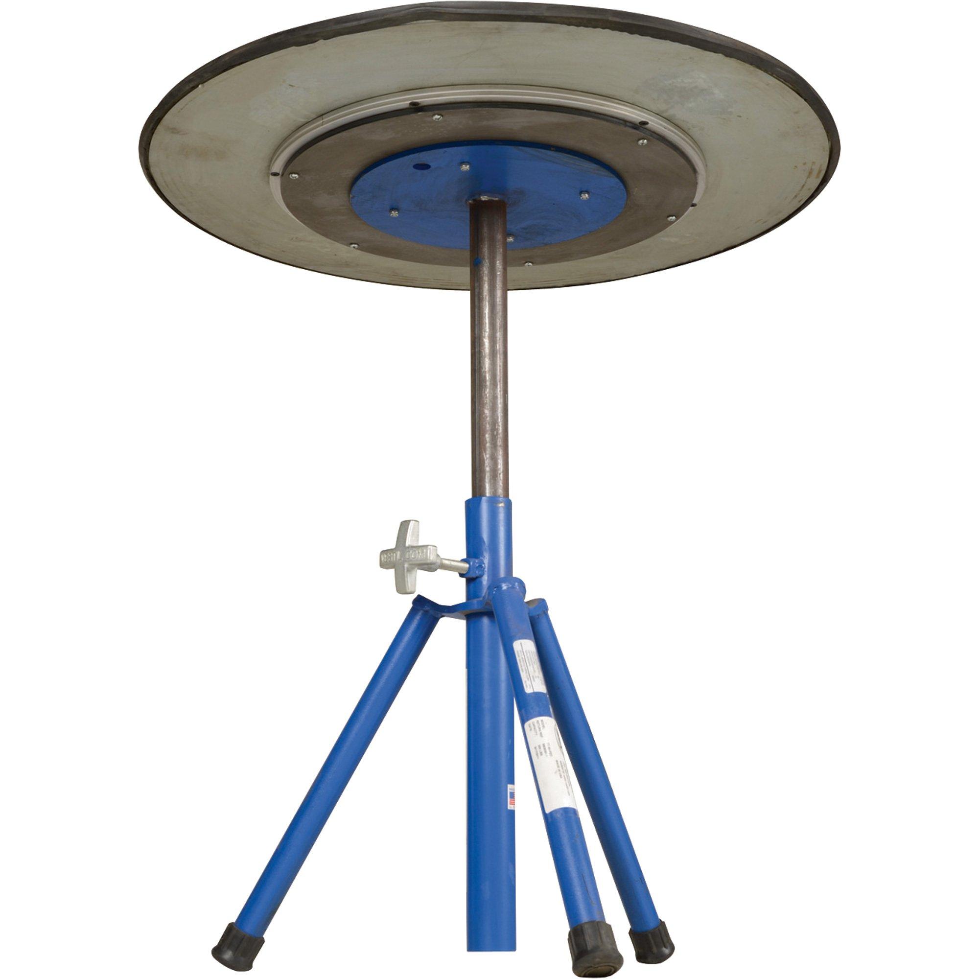 Vestil TT-N-30-PED Turntable, Steel, 30'' Diameter, 20-3/4'' - 31-3/4'' Height, 2 Tiers, 300 lb Capacity, Blue