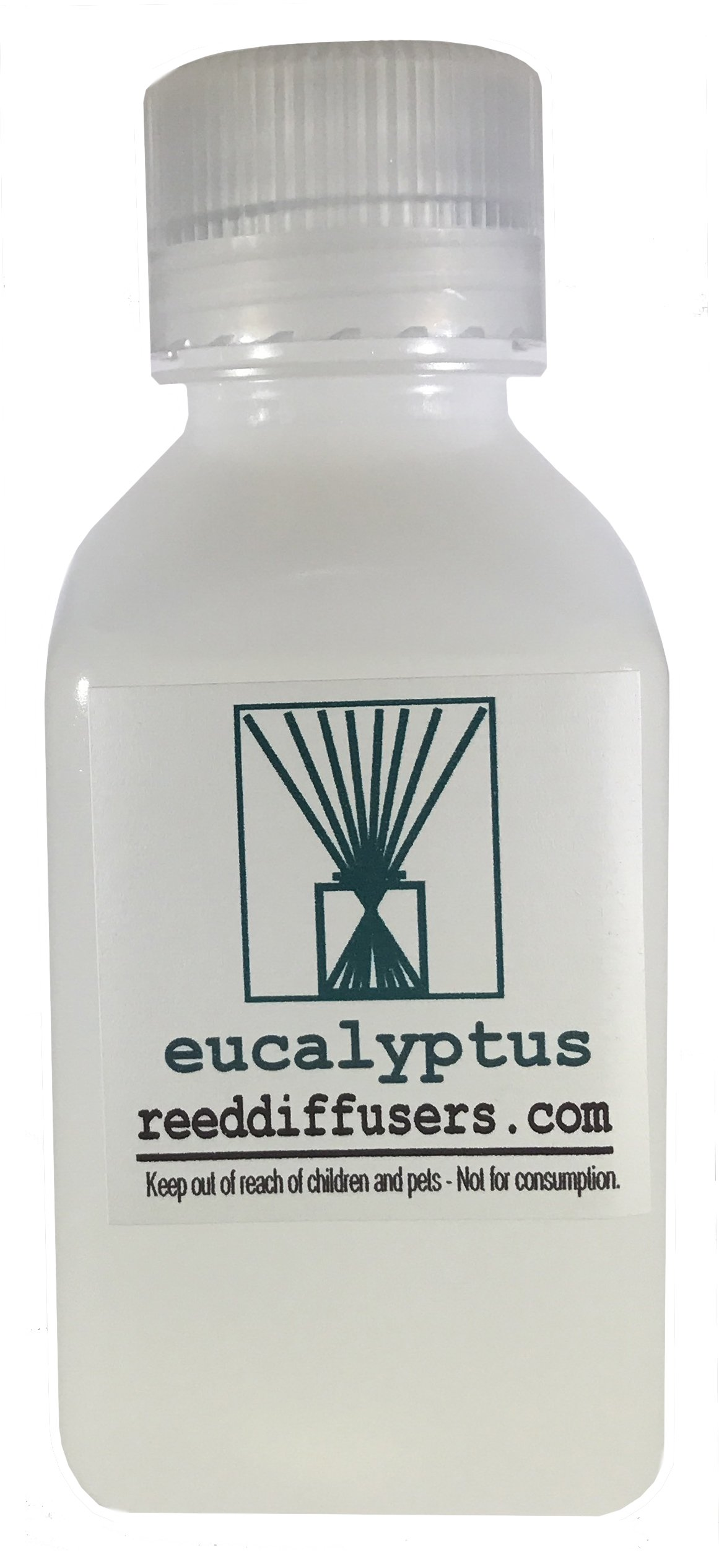 Eucalyptus Fragrance Reed Diffuser Oil Refill - 8oz - Made in the USA by ReedDiffusers.com (Image #1)