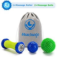 Plantar Fasciitis Roller Foot Massage Ball-Foot Massager Ball Set, 1 Foot Roller and 2 Spiky Massage Balls Deep Tissue, for All Over Body Trigger Point Therapy/Muscle Recovery/Stress Relief