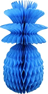 product image for 3-Pack Solid Colored 13 Inch Honeycomb Pineapple Party Decoration (Turquoise)