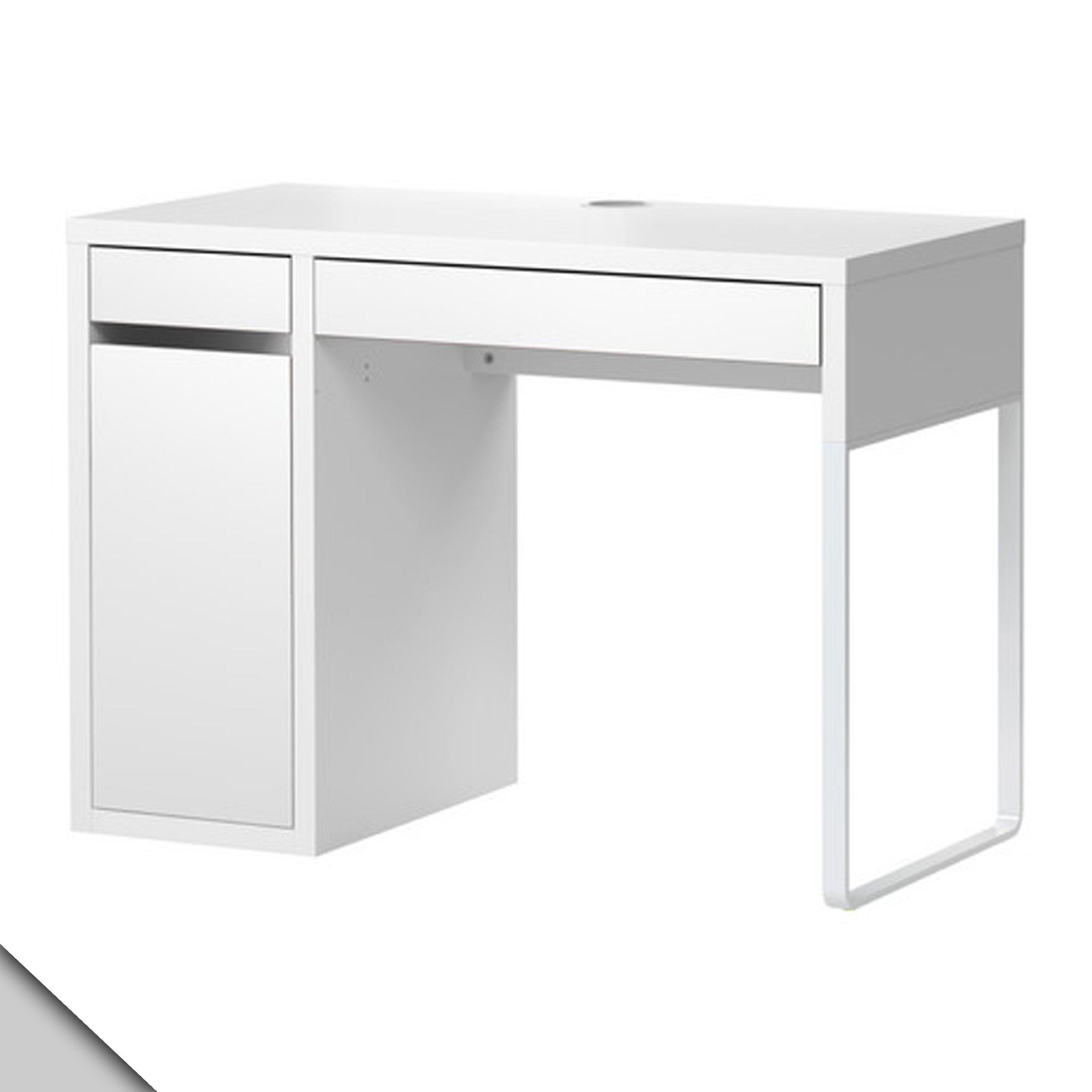 Ikea Micke Desk White w/ Shelf Inside by IKEA