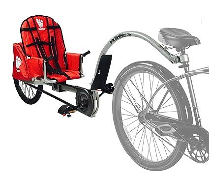 Weehoo IGO Turbo - Bicicleta de Remolque para niños, Color Rojo, 4 – 9