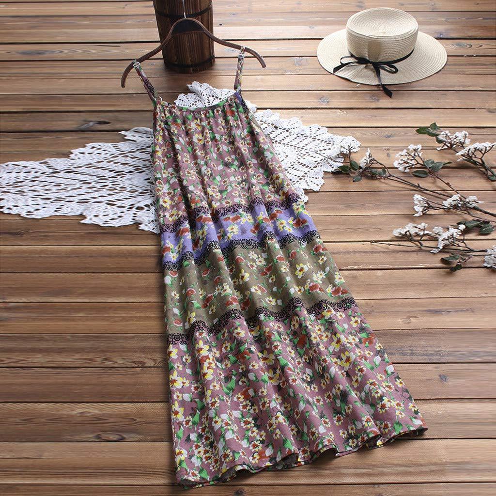 Lloopyting Women's V Neck Plain Dress Sleeveless Summer Dresses Print Breathable Loose Casual Short Sleeve T Shirt Dress by Lloopyting (Image #4)