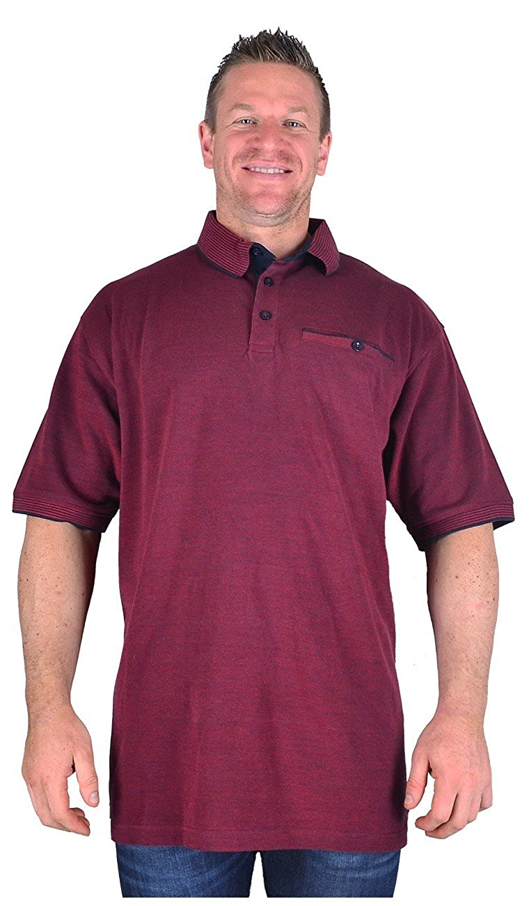 Kam - Polo - Manga Corta - para Hombre Rojo Granate Medium: Amazon ...