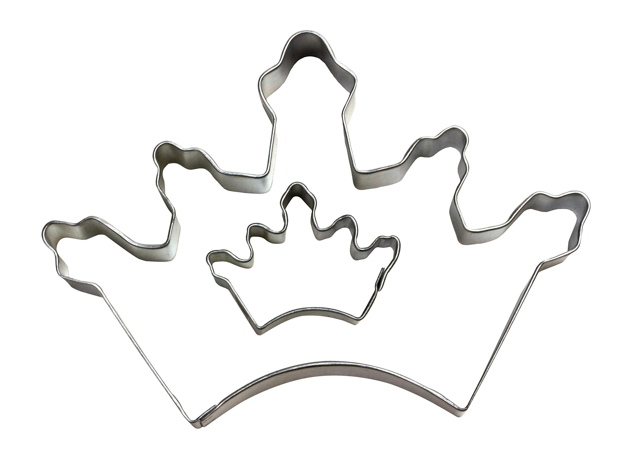 Cybrtrayd Parent/Child Cookie Cutter Set, 5-Inch, Crown