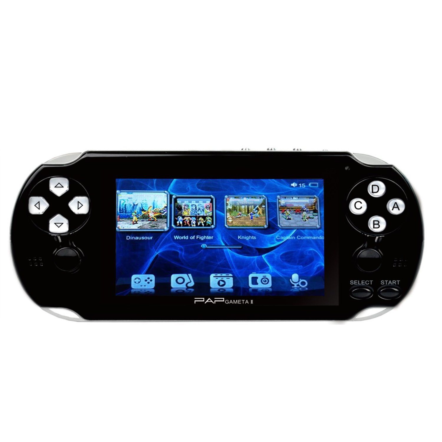 Handheld Game Console , 4GB 4.3 Inch Screen 650 Classic Game Console , Support Video / Music / Camera , Birthday Presents for Children - Black