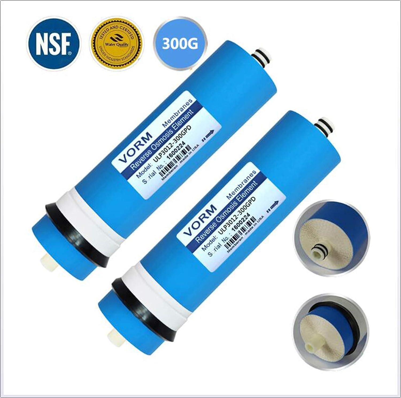 2 Piezas ULP-3012-300G Membrana RO,Membrana de /Ósmosis Inversa Filtro de Agua Repuesto Reemplazo