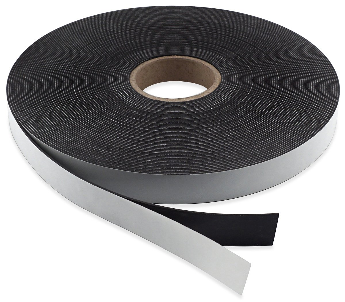 Master Magnetics Flexible Magnet Strip with Adhesive Back , 1/16'' Thick, 1'' Wide, 50 Feet Score-Cut Every 4'' Length with 147 - 1'' x 4'' Pieces (1 Roll)