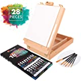 Painting Sets for Adults with Canvas, 18 Tubes of Acrylic Paint, 6 Paint Brushes for Artists - One 9.5 x 11.8 in Canvas…