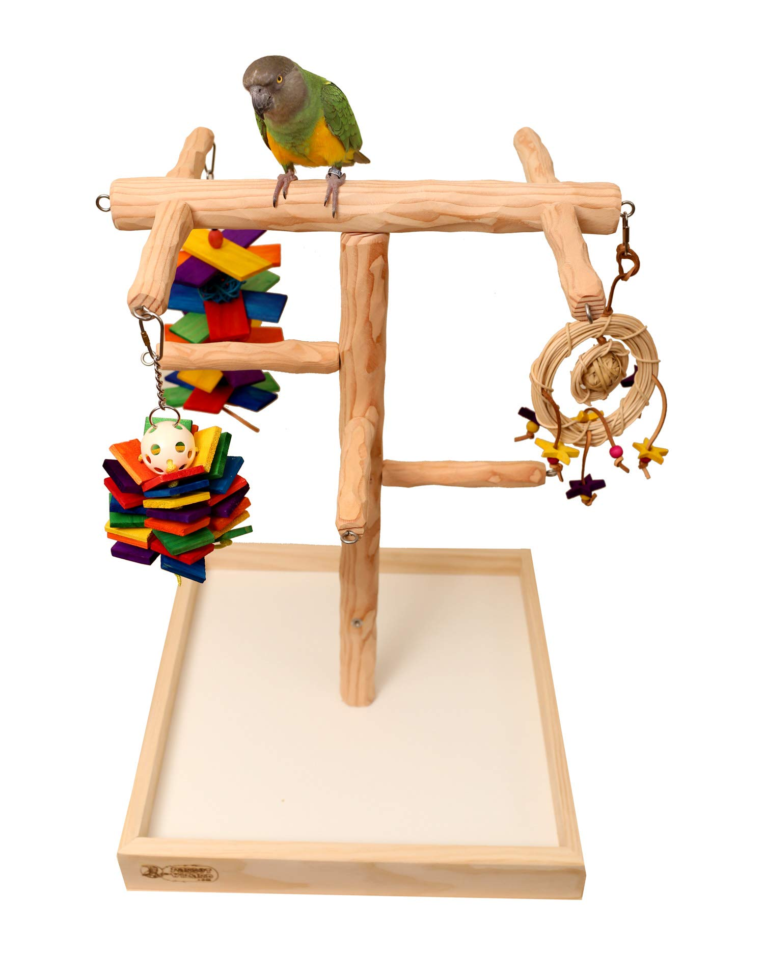 Deluxe NU Perch Tabletop Parrot Climbing Tree by Parrot Wizard