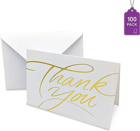 Amazon.com: Tarjetas de agradecimiento a granel, paquete de ...