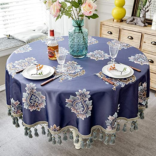 ZYHJAMA Mantel Mesa Redonda, Mantel Familiar, Textiles para el ...