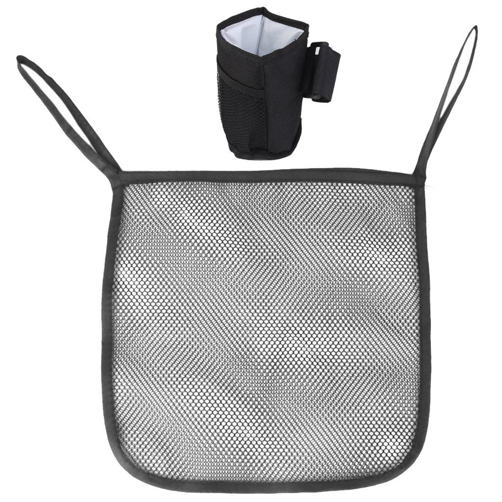 MagiDeal 1set Baby Pram Stroller Mesh Hanging Net + Cup Holder Bottle Pocket Key Holder